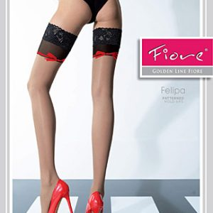 Nude holdup stockings, fiore felipa
