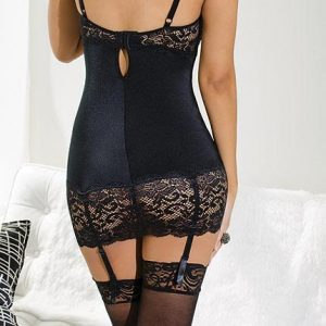 black lace chemise by coquette