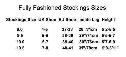 FF Stockings Size Chart