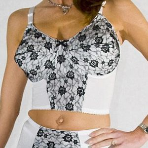 vintage style longline bra