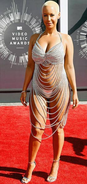 Amber Rose in Body Chains