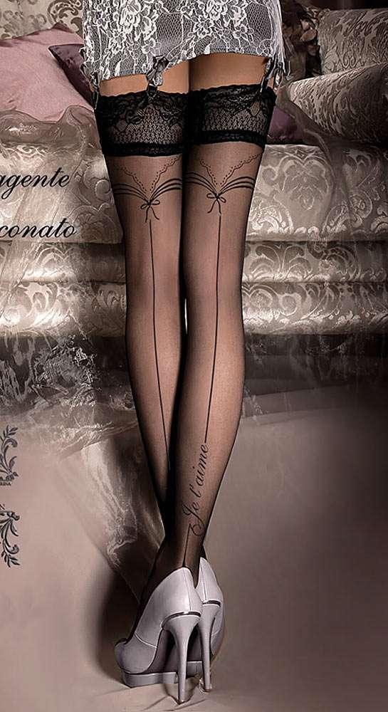 je t'aime seamed holdup stockings from Ballerina
