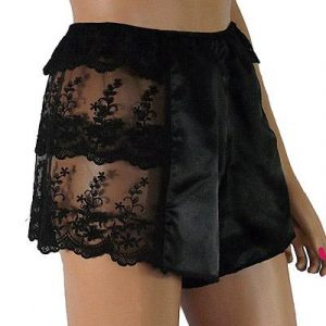 real silk french knickers with lace side panels