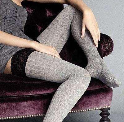 60 denier ribbed holdup stockings
