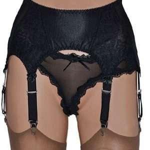6 strap suspender belt, laura by magija lingerie