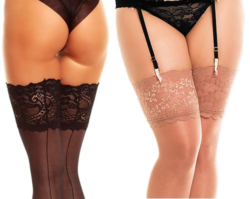 Sexy plus size stockings for valentines day