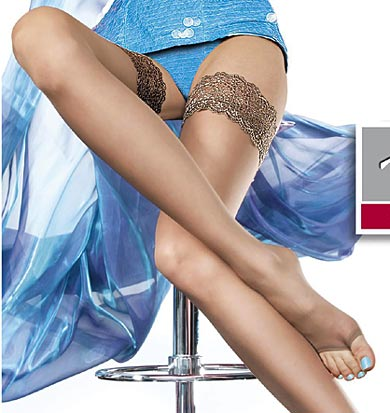 Plus size open toe stockings