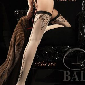 luxury contrast seamed stockings from Ballerina