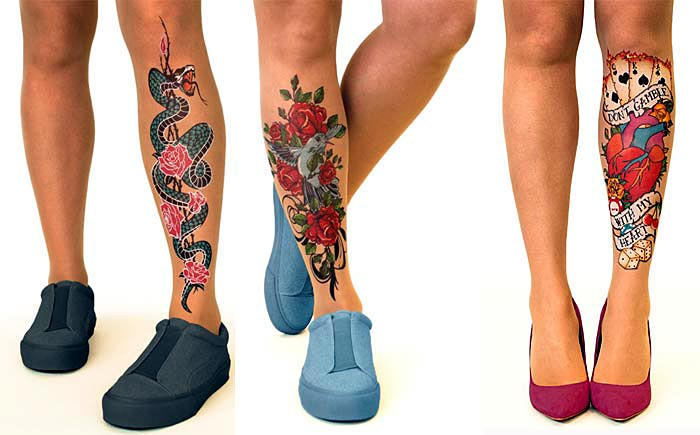 Retro Style Tattoo Tights by Stop & Stare