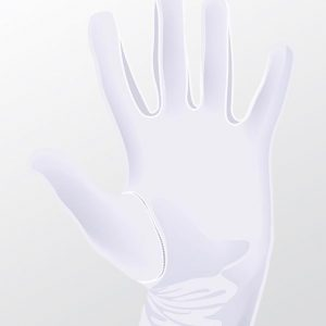 white cotton hosiery gloves