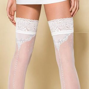 White stockings with seams