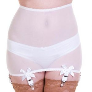 white roll-on open bottom girdle