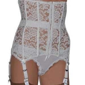 All Lace boned waspie suspender belt