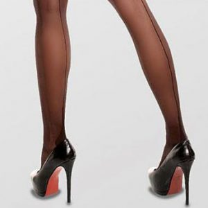 Glamory Amore plus size black tights with seams