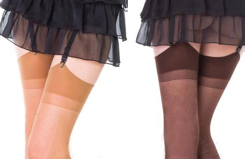 Chocolate or Tan Coloured Stockings in Regular or Plus size