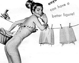 wearing a vintage girdle - anybody can have a better figure