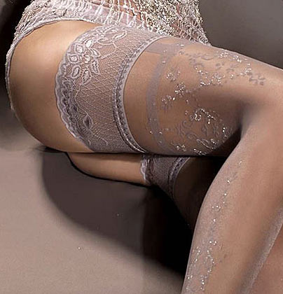 smoke grey hold-ups with embroidered lace tops