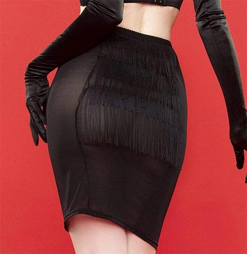 girdle skirt with tassels / fringing by Playful Promises